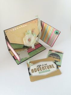 Life Is An Adventure Explosion Photo Box by CallMeCraftie on Etsy