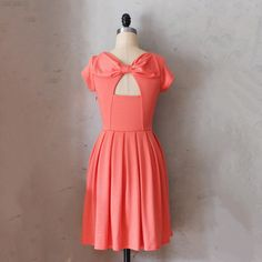Holly Golightly Dress Coral