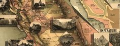 Johnstone's Unique #Map of #California (1888)