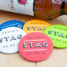 Personalised Stag Do Bachelor Party Badges Glitter Beards, Cold Brew Coffee Maker, Metal Pins, Party Accessories, Green And Orange, Thoughtful Gifts, Bridal Shower, Badges, Blog