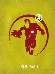 Assemble with THE AVENGERS poster series by Matthew Saxon - Iron Man