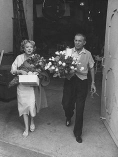 George Burns and Gracie Allen leaving the TV studio for the last time after they wrapped on their successful sit com The Burns and Allen Show -- Hollywood, Cali 1958