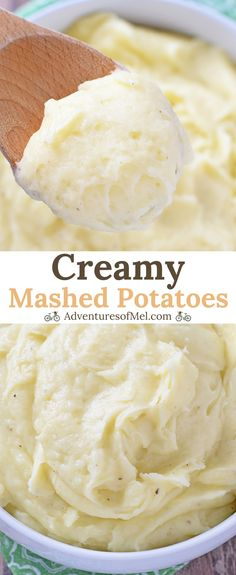 Creamy Mashed Potatoes made with yellow potatoes, cream, and butter. Delicious side dish recipe perfect for weeknight meals and holiday dinners. #potatoes #sidedish #easyrecipes