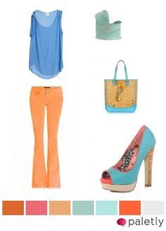 blue, orange - color palette