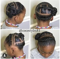 30 Easy Kids' Hairstyles That Any Parent Can Totally Pull Off - Lil Girl Hairstyles, Cute Braided Hairstyles, Natural Hairstyles For Kids, Natural Hair Styles, Short Hair Styles, Black Hairstyles, Curly Hairstyles, Toddler Hairstyles, Childrens Hairstyles