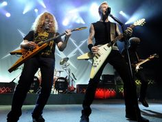 Mustaine & james hetfield at Metallica's 30th anniversary shows at The Fillmore, San Francisco 2011