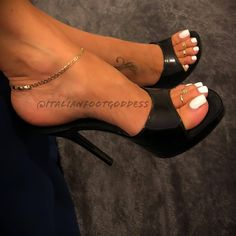 """Thanks """"Johnny M"""" you'll have your vid shortly. White High Heels, Open Toe High Heels, Leather High Heels, High Heel Sneakers, Sneaker Heels, Beautiful High Heels, Gorgeous Feet, Sexy Legs And Heels, Hot Heels"""