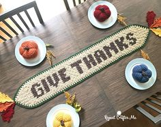 Ahhhh, Sweet November! I love this time of year as Thanksgiving preparations are in full swing and the holiday music is blasting on the radio and my favorite Christmas movies are on TV. Perfect time to cozy up and crochet! Time to decorate your dinner table and no better way to do that than to …