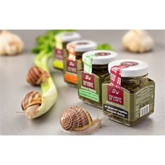 Gourmet snail treat in 4 jar combo by Escargot de Crete