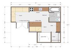 pleasing joseph sandy  small house floor plan  350 sq ft: l shaped desk plans