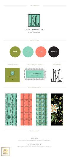Emily McCarthy Branding | Lisa Monson Lifestyle Design Branding Board | www.emilymcarthy.com #branding