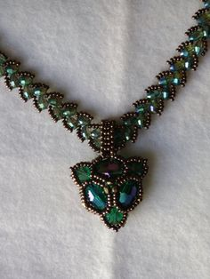 Handmade beadwoven Necklace by CapriceByNatalia on Etsy
