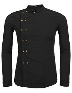 RRINSINS Mens Formal Slim Fitting Vogue Casual Non Iron Stripes Dress Shirt