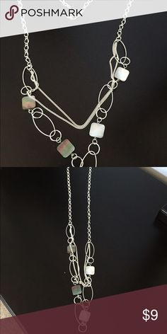 Long necklace Long silver necklace. Great condition Jewelry Necklaces