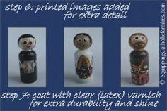 Paint a Saint: Tutorial! http://www.equippingcatholicfamilies.com/2013/07/wooden-painted-saint-proper-tutorial.html