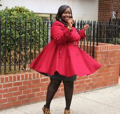 plus size coats for women | STYLE JOURNEY: A PLUS SIZE COAT WITH FLAIR | STYLISH CURVES
