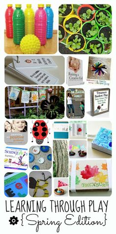Packed full of Learning Through Play ideas for the whole spring (!) - play, gardening, math, reading, writing....