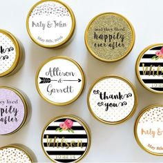 50 x CUSTOM WEDDING FAVOUR Soy Candles - Large Deep Travel Tin Candle Gift - Personalised Gold or Silver Candles - 28+ Hours burn by TheCoconutDream on Etsy