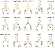 Understanding Gown Necklines. Good to know for all... | Boulder Country Club Weddings