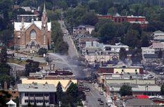 Dezastru ecologic în Canada, după ce un tren care transporta ţiţei a deraiat în provincia #Quebec