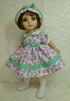 "Lavender and Green Checks Outfit for 10"" Patsy by Tonner Anne Estelle by Apple"