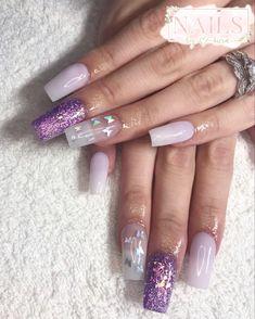 #nails #nailsofinstagram #nailart #acrylicnails #ombrenails #pinknail #nailideas #girlynails #nailinspiration Nailart, Butterfly Nail, My Nails, Lilac, Painting, Beauty, Lilac Bushes, Painting Art, Paintings