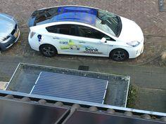 Prius Plug in opgeladen door solar zonnepanelen