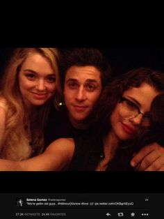 Jennifer stone, David Henrie and Selena Gomez