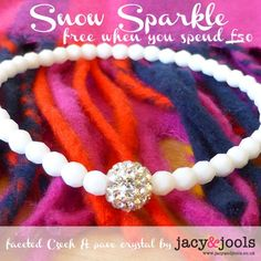 For a limited time only we're offering this gorgeous faceted white Czech and pave crystal bracelet FREE if you spend £50 or more.  The bracelet will be added automatically at the checkout if your basket total qualifies.    www.jacyandjools.co.uk  #offer #free #bracelet #freebracelet #jewellery #Christmas #Christmasshopping #gift