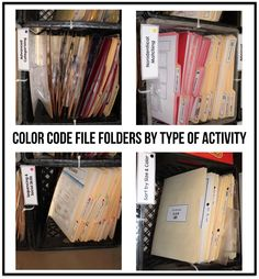 Color Coded File Folder Organization | The Autism Helper