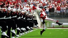 Ohio State's Marching Band does giant Moonwalk tribute to Michael Jackson