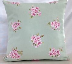 Clarke & Clarke Tilly Sage Green  pillow / cushion cover. with Optional Cushion backs.. £6.90, via Etsy.