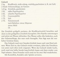 Gulaschrezept (Werner Gruber)