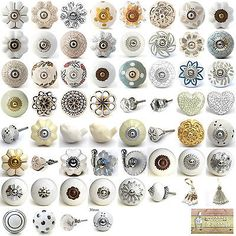Brighten up your cupboards and drawers with these stylish ceramic knobs. ALL AGATE KNOBS ARE DIFFERENT. to the picture AND each other! A selection of black and white ceramic drawer pulls by Knobbles and Bobbles. Cupboard Door Knobs, Kitchen Cabinet Handles, Kitchen Knobs, Cabinet Hardware, Porcelain Door Knobs, Ceramic Knobs, Antique Kitchen Cabinets, Cupboards, Dresser Drawer Pulls