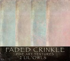 Faded Crinkle Textures by 2 Lil Owls Studio on Creative Market