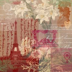 Free 12x12 Paris French scrapbook, craft, paper printable from Artzee Chris www.artzeechris.com