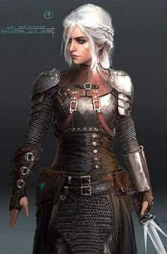 Ciri by Cintra Armor Theater Costume - .- Ciri von Cintra Rüstung Theater Kostüm – Ciri by Cintra Armor Theater Costume – - Fantasy Armor, Medieval Fantasy, Fantasy Female Warrior, Fantasy Women, Fantasy Inspiration, Character Inspiration, Character Portraits, Character Art, Character Concept