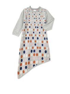Kicokids Girl's Intarsia Knit Asymmetrical Dress at MYHABIT