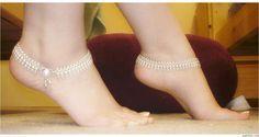 #kundan #payal #silver #anklets