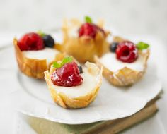 White Chocolate And Raspberry Tartlets