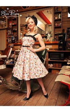 Pinupgirl Clothing Nettie Dress in Squirrel Print