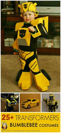 Ever Bumblebee Costume Ideas Coolest homemade Bumblebee Transformers costumesCoolest homemade Bumblebee Transformers costumes Transformer Party, Bumble Bee Transformer Costume, Transformer Halloween Costume, Pirate Costume Kids, Homemade Halloween Costumes, Diy Costumes, Halloween Costumes Kids Boys, Costume Ideas, Transformers Bumblebee