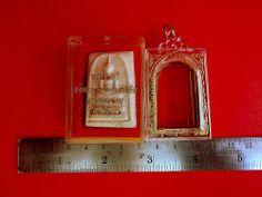 Thai Amulet Phra Somdej Wat Rakang 2535 Buddha Blessed+Cased+Temple Box Charm**