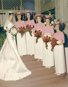 Sandra Griffith Hopkin's Wedding May 1967 Sandra Griffith, her sister Nancy Griffith (class of Judy Davis, Susan Alford, Mary Fox, and Janice Craddock 1960s Wedding Dresses, Vintage Bridesmaid Dresses, 1970s Wedding, Vintage Wedding Photos, Vintage Bridal, Vintage Weddings, Wedding Pictures, Vintage Pictures, Wedding Attire