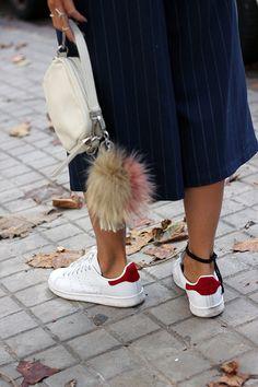 Zapatillas adidas deportivas Stan Smith Pony hair red   Coohuco