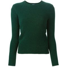 Polo Ralph Lauren Crew Neck Sweater (£120) ❤ liked on Polyvore featuring tops, sweaters, green, polo ralph lauren, crewneck sweater, green sweater, green crew neck sweater and green top