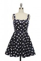 vintage polka dot dress. This website has tons like this.