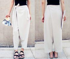 2015 Authentic Linen Trousers Big Size Harem Loose Baggy Linen Ladies Pants723