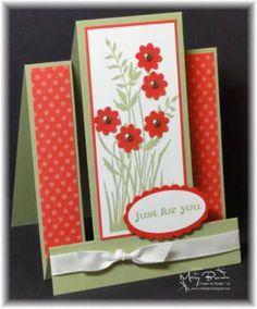 Just Believe Stair Step Card by stampercamper - Cards and Paper Crafts at Splitcoaststampers
