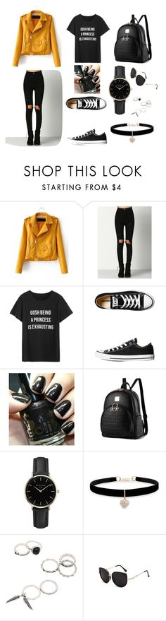 """""""Rock chick"""" by jelena-ivic on Polyvore featuring moda, WithChic, Converse, ROSEFIELD i Betsey Johnson"""